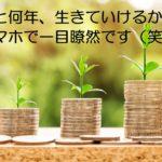 あと何年、無職生活が出来るかすぐ解るように、お金、資産を管理する。